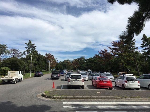 市原海釣り公園の駐車場