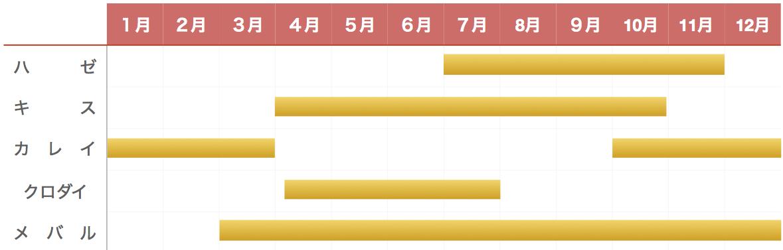 上総湊港釣り物カレンダー
