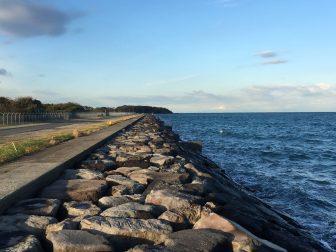 沖ノ島護岸の釣り場