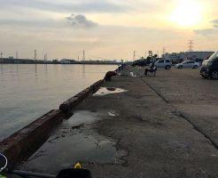 富津新港の釣り場