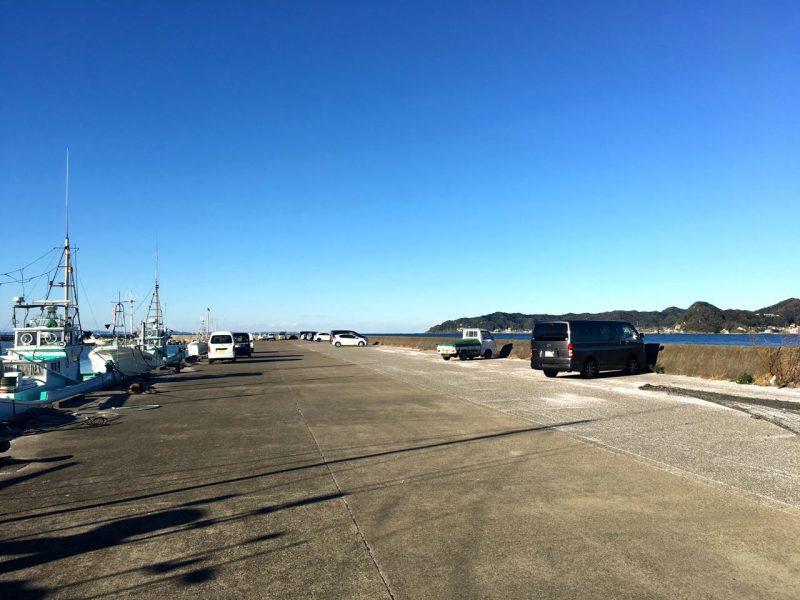 富浦新港の釣り場