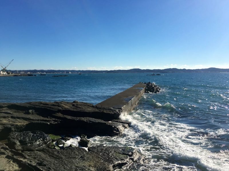 丸山堤防の釣り場