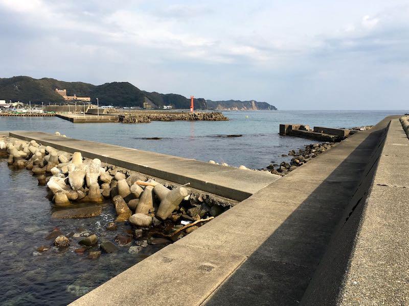 天津港の釣り場33