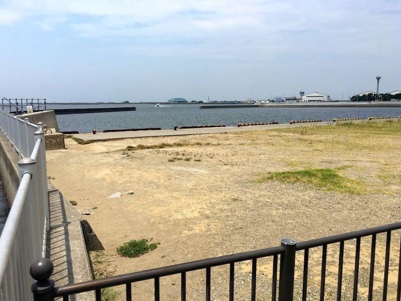 木更津内向公園の釣り場