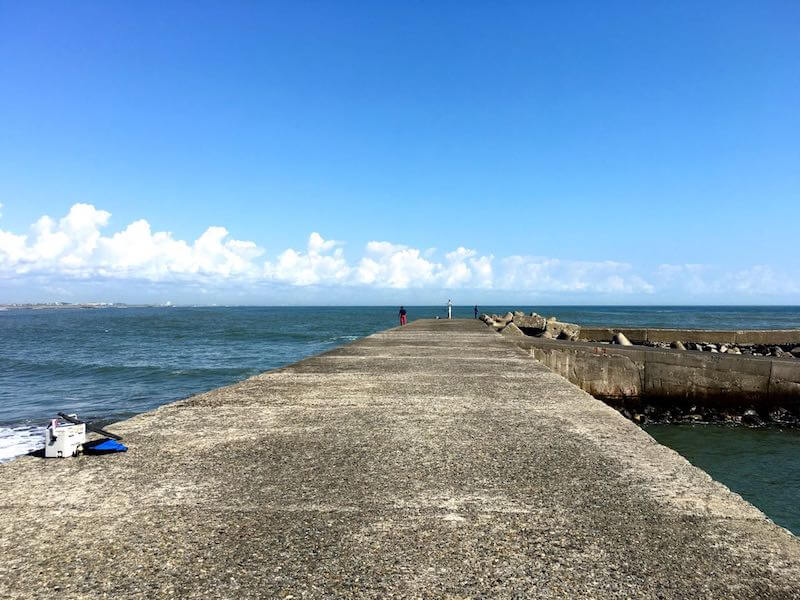 太東港の釣り場10
