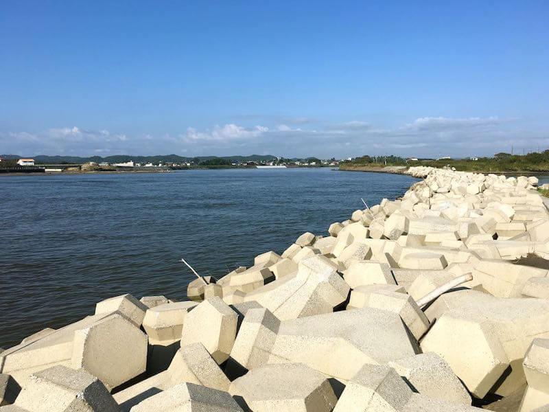 夷隅川河口の釣り場30