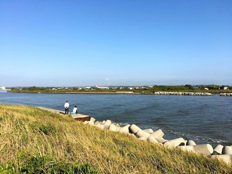 夷隅川河口の釣り場19
