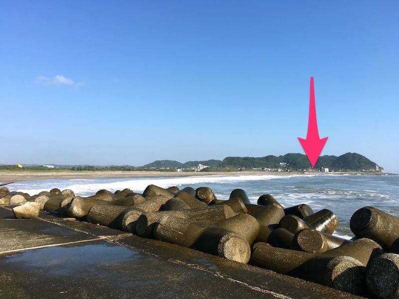 夷隅川河口の釣り場34