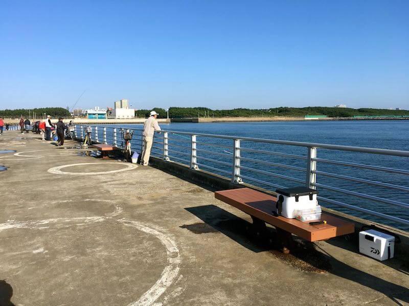 検見川浜の釣り場12