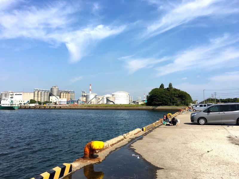 袖ヶ浦港 今井岸壁の釣り場6