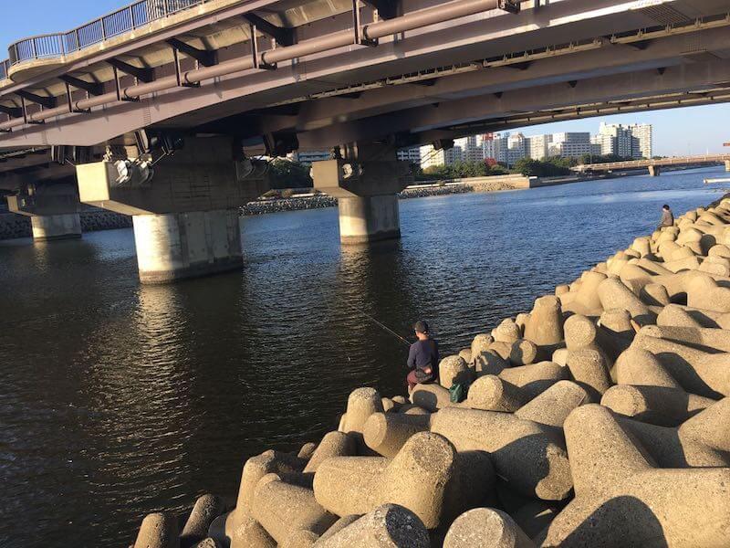 検見川浜の釣り場36