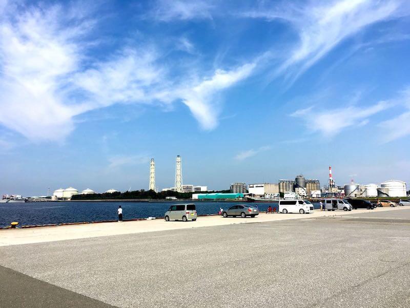 袖ヶ浦港 今井岸壁の釣り場2