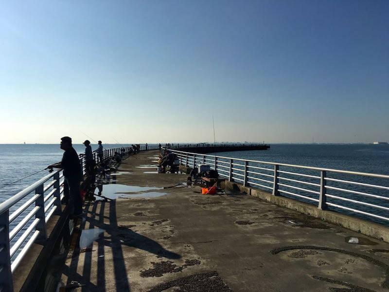 検見川浜の釣り場13