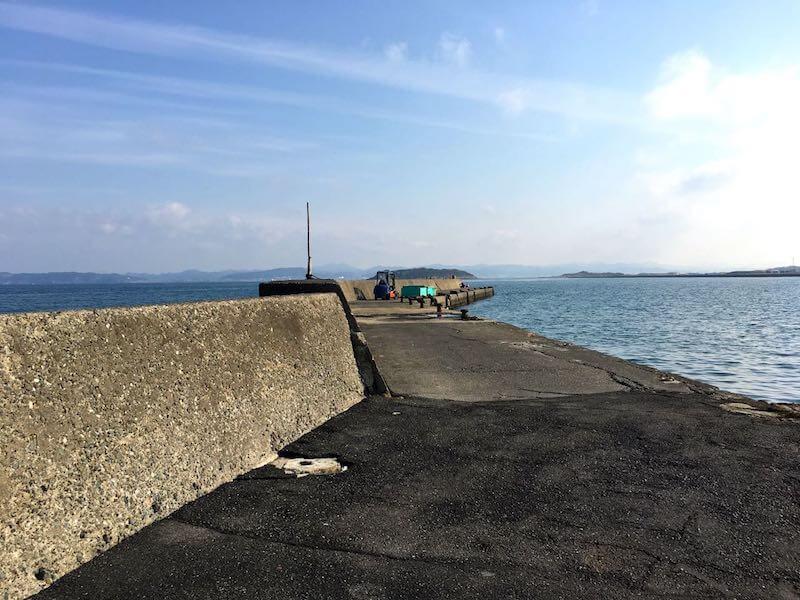 香谷堤防の釣り場03