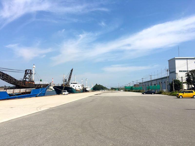袖ヶ浦港 今井岸壁の釣り場1