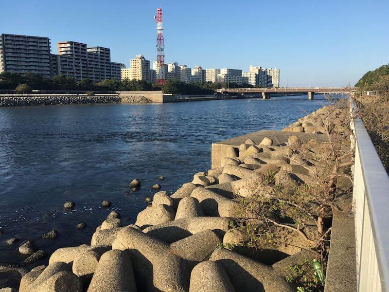 検見川浜の釣り場33