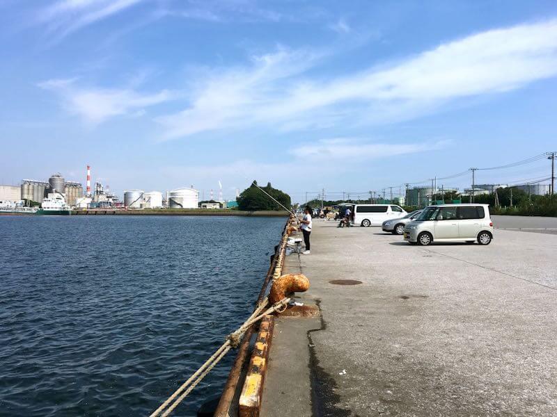 袖ヶ浦港 今井岸壁の釣り場4