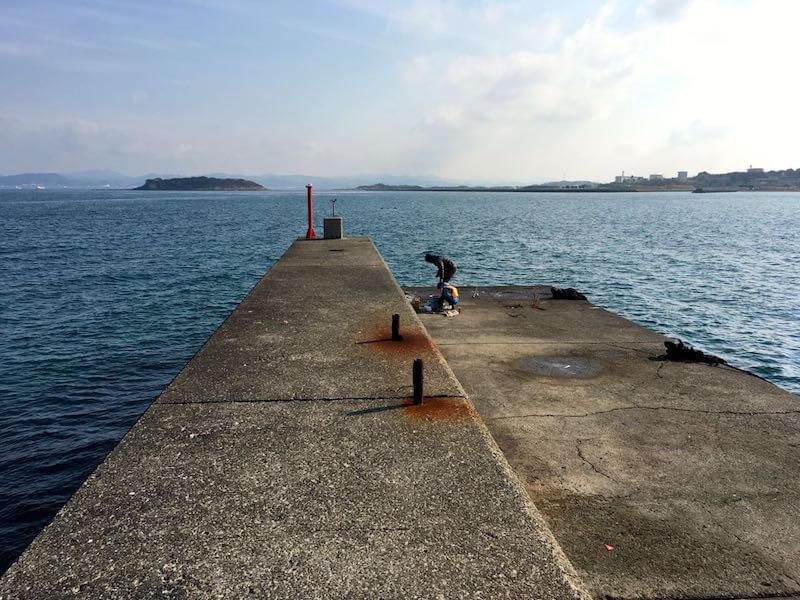 香谷堤防の釣り場06