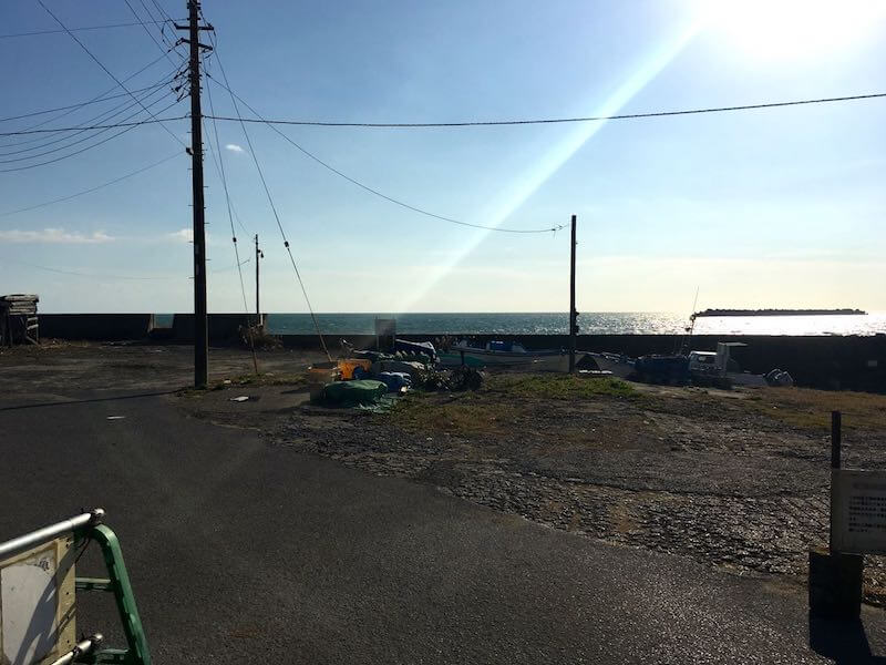 外川港の釣り場10