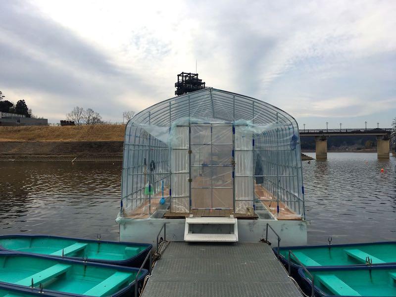 高滝湖ワカサギ釣りボーム入り口