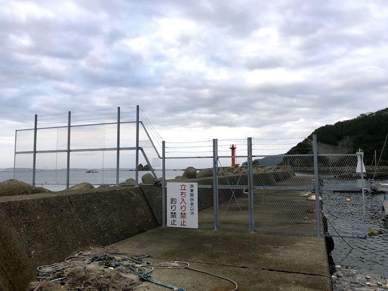 勝山港の釣り場の変更